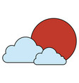 japanese sun and clouds vector image