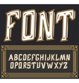 label font with art deco ornament Tower vector image vector image