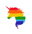 lgbt flag against homosexual discrimination vector image