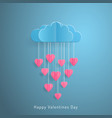 love invitation card valentines day balloon cloud vector image vector image