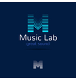 M letter music logo template Creative equalizer vector image vector image