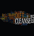 master cleanse diet recipe recipe to success text vector image vector image
