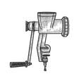 meat grinder sketch vector image