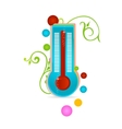 medical thermometer sign isolated vector image vector image