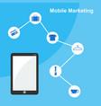 mobile marketing flat design style vector image