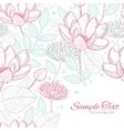 modern line art florals frame corner vector image vector image