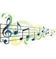 music floral vector image vector image