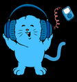 Music Kitten vector image