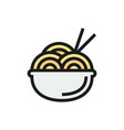 noodle symbol icon on white background vector image vector image
