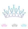 outline creative crown abstract logo design vector image vector image