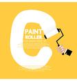 Paint Roller Alphabet C vector image vector image