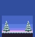 pixel art winter vector image vector image