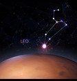 planet with a kind zodiac leo vector image