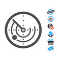 radar flat icon with free bonus elements vector image vector image