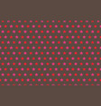 red and pink stars pattern on gray background vector image