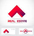 Red real estate house logo icon element vector image vector image