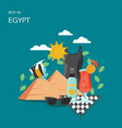 rest in egypt flat style design vector image vector image