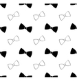 Seamless black and white bow tie pattern vector image vector image
