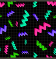 seamless bright pattern in memphis studio style vector image vector image