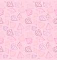 seamless pattern jewels diamond vector image