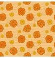seamless pattern with hand drawn flowers on vector image