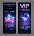 set of disco background banners all night dance
