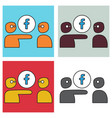 Set of unusual look facebook logotype social