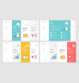 set of website template designs vector image vector image
