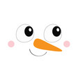 snowman square face icon big eyes carrot nose vector image