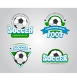 Soccer football badges logos t-shirt vector image vector image