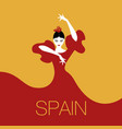spanish dancer logo-01 vector image vector image