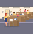 student lecture hall conference auditorium vector image vector image