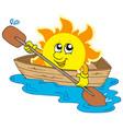 sun in boat vector image
