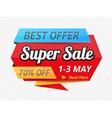 Super Sale Banner vector image vector image
