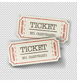 tickets isolated vector image