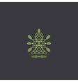 Totem Decorative Line Art Element Geometric Style vector image vector image