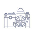 vintage old photo camera logo design vector image