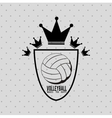 volleyball league design vector image