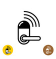 wireless door lock icon smart home door symbol vector image