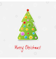 Xmas Tree Design Card vector image