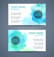 business card templates vector image