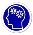 icon - thinking intelligence problems vector image