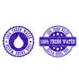 100 fresh water grunge stamp seals vector image vector image
