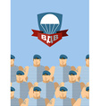 2 August Day Of AIRBORNE FORCES Russian military vector image vector image
