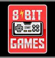 8 bit retro old gamepad vector image