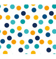 abstract bright color polka dot seamless pattern vector image vector image
