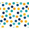 abstract bright color polka dot seamless pattern vector image
