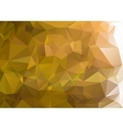 Abstract green background polygon vector image