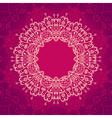 Abstract mandala frame vector image