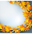 Abstract nature background autumn leaf fall vector image